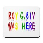 Roy G. Biv Graffiti (color wh Mousepad