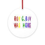Roy G. Biv Graffiti (color wh Ornament (Round)
