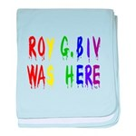 Roy G. Biv Graffiti (color wh baby blanket