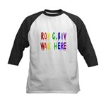 Roy G. Biv Graffiti (color wh Kids Baseball Jersey