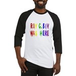 Roy G. Biv Graffiti (color wh Baseball Jersey