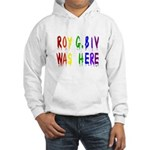 Roy G. Biv Graffiti (color wh Hooded Sweatshirt