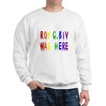 Roy G. Biv Graffiti (color wh Sweatshirt