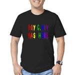Roy G. Biv Graffiti (color wh Men's Fitted T-Shirt
