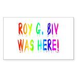Roy G. Biv Graffiti (rainbow) Sticker (Rectangle 1