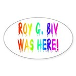 Roy G. Biv Graffiti (rainbow) Sticker (Oval 50 pk)