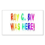 Roy G. Biv Graffiti (rainbow) Sticker (Rectangle)
