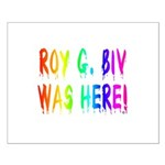 Roy G. Biv Graffiti (rainbow) Small Poster