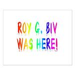 Roy G. Biv Graffiti (rainbow) Small Poster