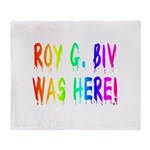 Roy G. Biv Graffiti (rainbow) Throw Blanket