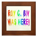 Roy G. Biv Graffiti (rainbow) Framed Tile