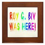 Roy G. Biv Graffiti (rainbow) Framed Tile