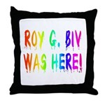 Roy G. Biv Graffiti (rainbow) Throw Pillow
