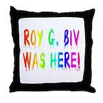 Roy G. Biv Graffiti (rainbow) Throw Pillow