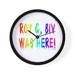 Roy G. Biv Graffiti (rainbow) Wall Clock