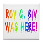 Roy G. Biv Graffiti (rainbow) Tile Coaster