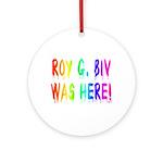 Roy G. Biv Graffiti (rainbow) Ornament (Round)