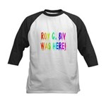 Roy G. Biv Graffiti (rainbow) Kids Baseball Jersey