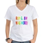 Roy G. Biv Graffiti (rainbow) Women's V-Neck T-Shi