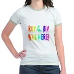 Roy G. Biv Graffiti (rainbow) Jr. Ringer T-Shirt