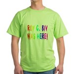 Roy G. Biv Graffiti (rainbow) Green T-Shirt