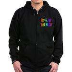 Roy G. Biv Graffiti (rainbow) Zip Hoodie (dark)
