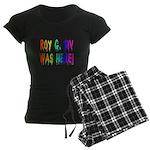 Roy G. Biv Graffiti (rainbow) Women's Dark Pajamas