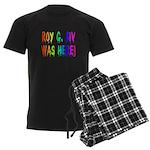 Roy G. Biv Graffiti (rainbow) Men's Dark Pajamas