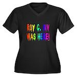 Roy G. Biv Graffiti (rainbow) Women's Plus Size V-