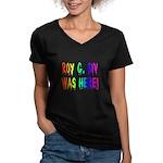 Roy G. Biv Graffiti (rainbow) Women's V-Neck Dark