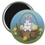 Easter Bunny Basket Magnets