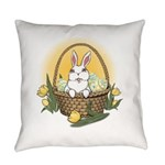 Easter Bunny Basket Everyday Pillow