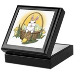 Easter Bunny Basket Keepsake Box