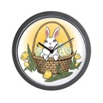 Easter Bunny Basket Wall Clock