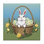 Easter Bunny Basket Tile Coaster