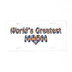 World's Greatest Mom (Autism) Alum. License Plate