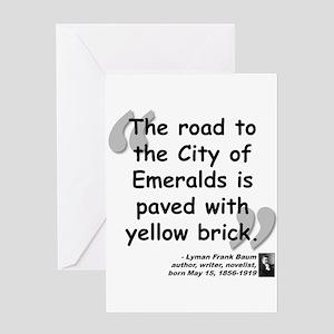 Baum Brick Quote Greeting Card