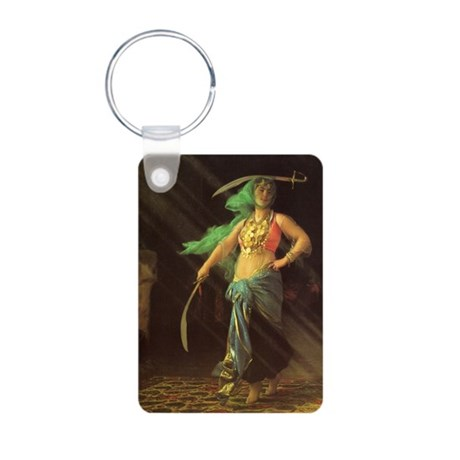 An Almeh Performing the Sword Dance Photo Keychain