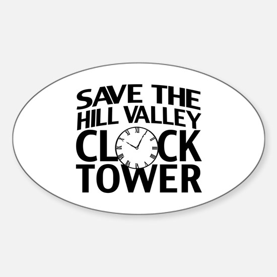 Save The Clock Tower Sticker (Oval)