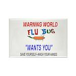 Flu Epidemic Pandemic Rectangle Magnet (10 pack)