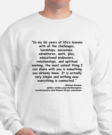 Kashia Connected Quote Sweatshirt