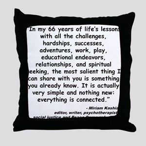 Kashia Connected Quote Throw Pillow