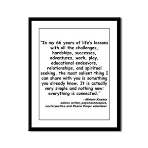 Kashia Connected Quote Framed Panel Print