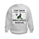 2-22 Infantry - Triple Deuce Kids Sweatshirt
