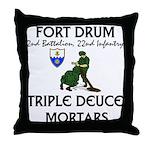 2-22 Infantry - Triple Deuce Throw Pillow