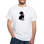 Shar Pei Breast Cancer Suppor White T-Shirt
