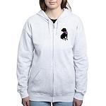 Shar Pei Breast Cancer Suppor Women's Zip Hoodie