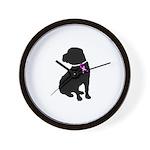 Shar Pei Breast Cancer Suppor Wall Clock