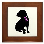 Shar Pei Breast Cancer Suppor Framed Tile
