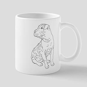 Shar Pei Line Drawing Mug